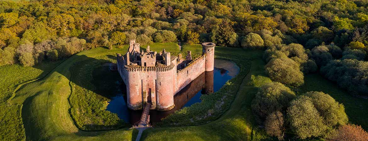 Aerial photograph of Caerlaverock Castle